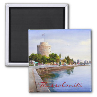 Thessaloniki Vierkante Magneet
