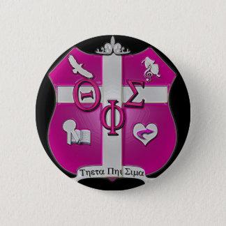 theta phi sigmaschild ronde button 5,7 cm