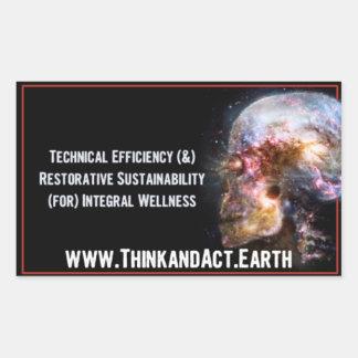 "ThinkandAct.Earth ""Funthreementals "" Rechthoekige Sticker"