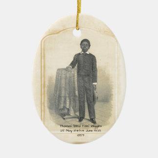 "Thomas ""Blinde Tom"" Wiggins, 1859 Keramisch Ovaal Ornament"