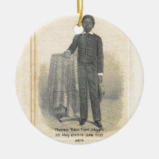 "Thomas ""Blinde Tom"" Wiggins, 1859 Rond Keramisch Ornament"