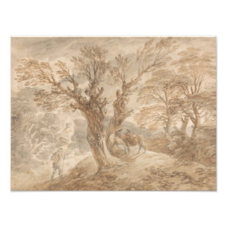 Thomas Gainsborough - Bebost Landschap met Boer Fotoprints