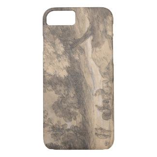 Thomas Gainsborough - Bebost Landschap met Cijfer iPhone 7 Hoesje