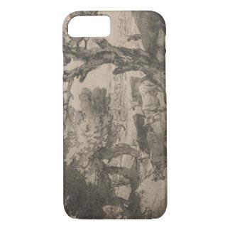 Thomas Gainsborough - Bebost Landschap met Herdsm iPhone 7 Hoesje