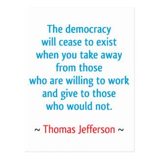 Thomas Jefferson #2 Briefkaart