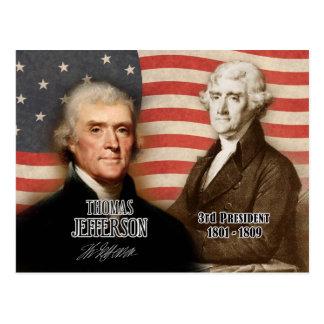 Thomas Jefferson - 3de President van de V.S. Briefkaart