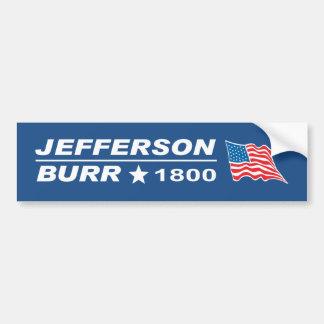 Thomas Jefferson - Braam 1800 van Aaron verkiezing Bumpersticker