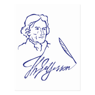 Thomas Jefferson Briefkaart