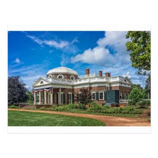 Thomas Jefferson Home in Monticello Briefkaart
