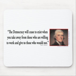 Thomas Jefferson op Democratie Muismat