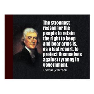 Thomas Jefferson Quote Briefkaart