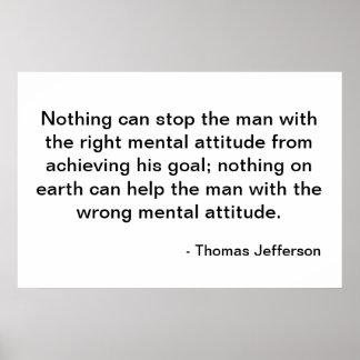 Thomas Jefferson Quote - Houding Poster