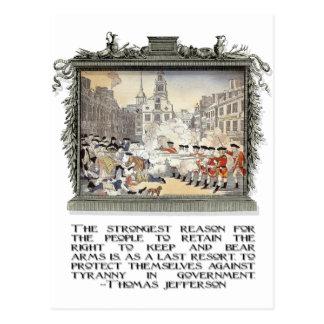 Thomas Jefferson Quote: Tirannie in de Overheid Briefkaart