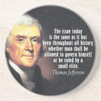 Thomas Jefferson Quote Zandsteen Onderzetter