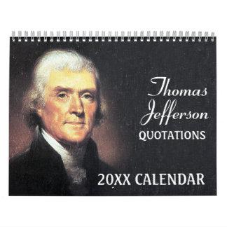Thomas Jefferson Quotes met Presidentiële Foto Kalender