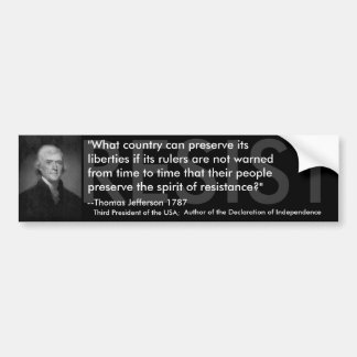 Thomas Jefferson RESIST Bumpersticker