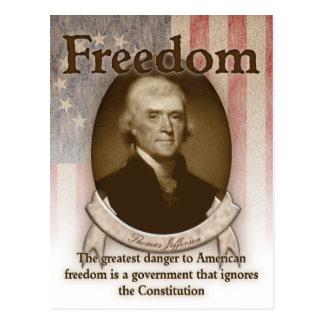 Thomas Jefferson - Vrijheid Briefkaart