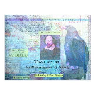 Thou kunst zo walgelijk zoals een pad SHAKESPEARE Briefkaart