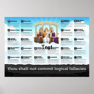 Thou zal geen logische denkfouten begaan poster