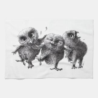 Three not Angry Birds Keukenhanddoek