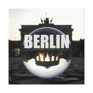 Through the crystal ball, Brandenburg Gate Canvas Afdruk