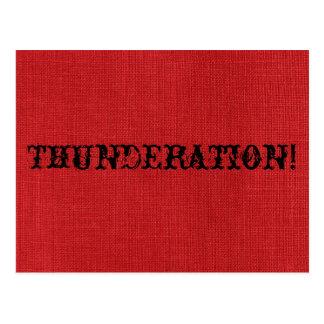 THUNDERATION! oud-timey doopvont op de Rode Foto Briefkaart