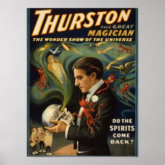 Thurston de Grote Magische Schedel van de Holding  Poster