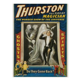 Thurston de Grote Vintage Reclame van de Tovenaar Briefkaart