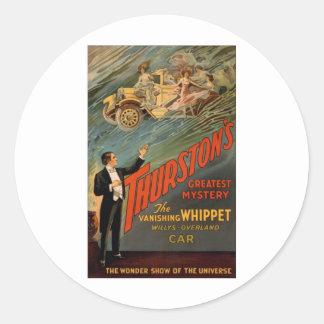 Thurston - de het Verdwijnen Whippet Ronde Sticker