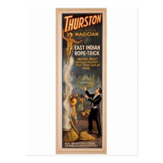 """Thurston, de """"Oostelijke Truc"""" Retro Thea Indische Briefkaart"""