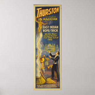 Thurston de tovenaar - Truc van de Kabel van het O Poster