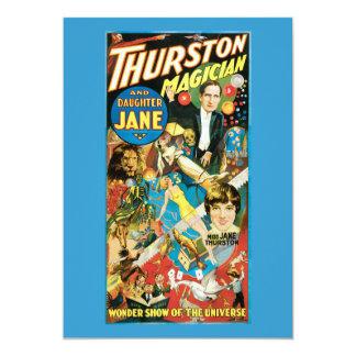 Thurston & Dochter Jane Magician Advertizing Kaart
