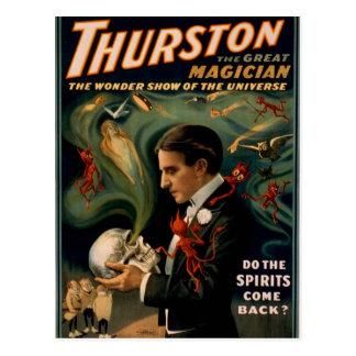 "Thurston, ""doet de geesten terugkomt?"" Retro Thea Briefkaart"