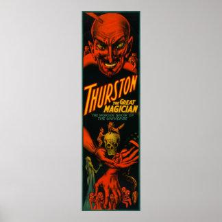 """Thurston """"Grote Tovenaar toont van het Heelal """" Poster"""