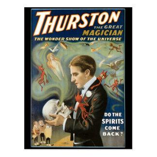 Thurston het Grote Vintage Magische Akte van de Briefkaart