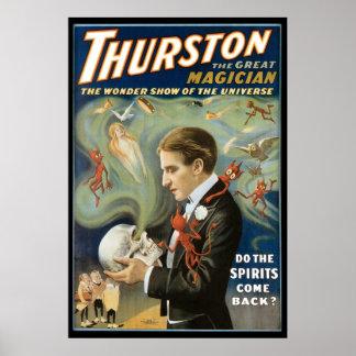 Thurston het Grote Vintage Magische Akte van de Poster