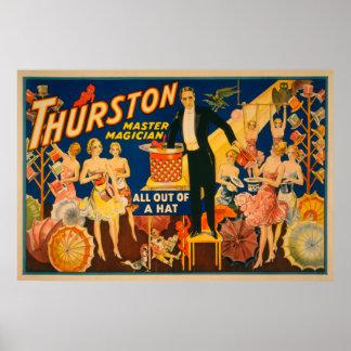 """Thurston, HoofdTovenaar """"uit een Magisch Pet"""" Poster"""