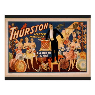 """Thurston, """"Retro Theater allen uit van een Pet"""" Briefkaart"""