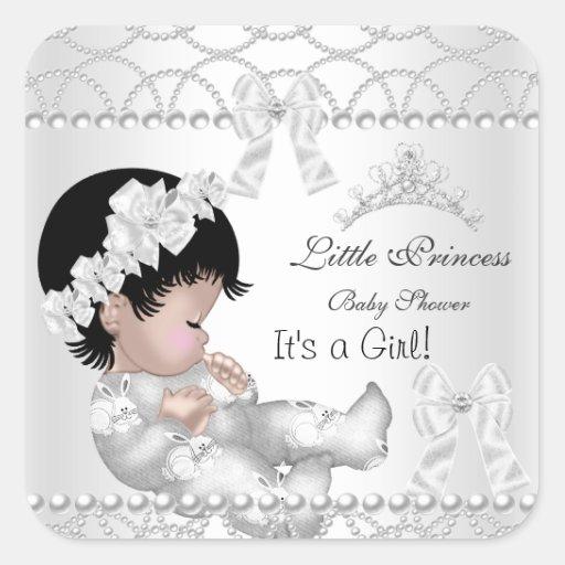 Tiara van het Meisje van het Baby shower van de Vierkant Sticker