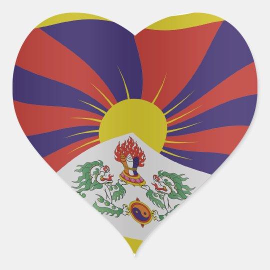 Tibet flag hart sticker