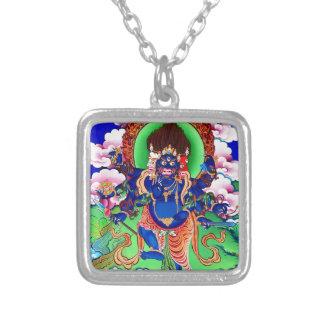 Tibetan Boeddhisme Boeddhistische Thangka Ucchusma Zilver Vergulden Ketting