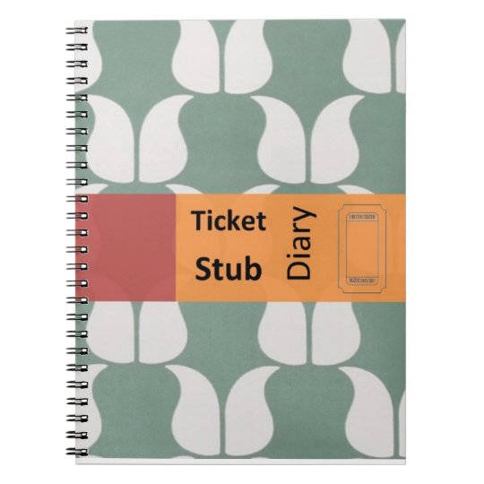 ticket stub diary notitieboek