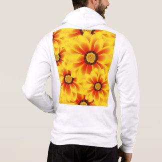 Tickseed het kleurrijke gele patroon van de zomer hoodie