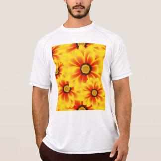 Tickseed het kleurrijke gele patroon van de zomer t shirt