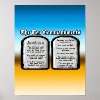 Tien Bevelen van de Heilige Bijbel, de Wet van de  Poster