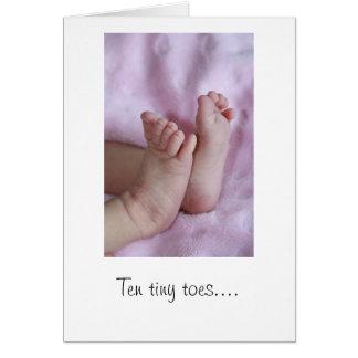 Tien uiterst kleine tenen… De Kaart van het baby