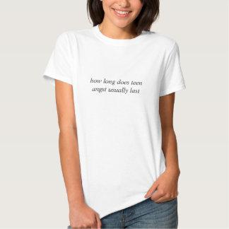 tiener angst t-shirt