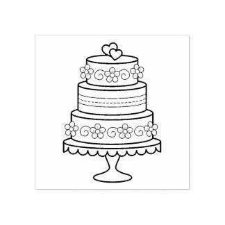 Tiered Cake van het Huwelijk Rubberenstempel