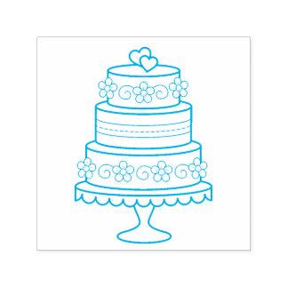 Tiered Cake van het Huwelijk Zelfinktende Stempel