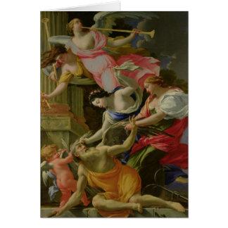 Tijd door Liefde, Venus en Hoop wordt overwonnen Wenskaart